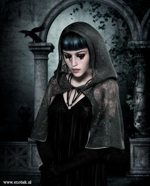 gothic meisje met raaf the raven edgar allan poe 2.jpg