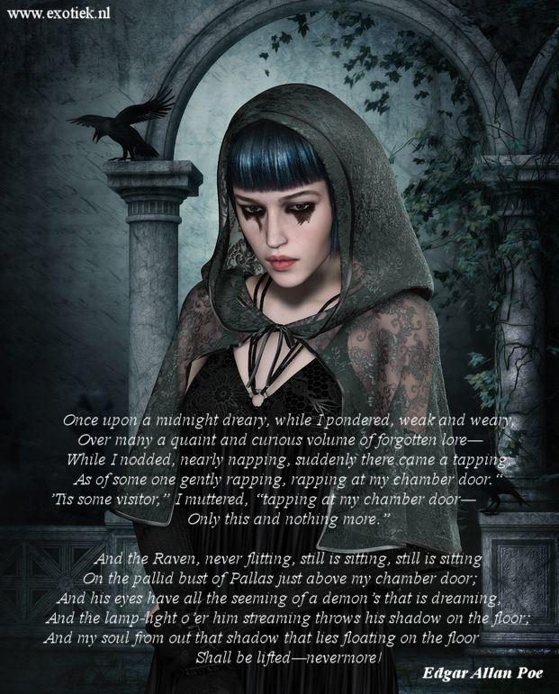 gothic meisje met raaf the raven edgar allan poe.jpg