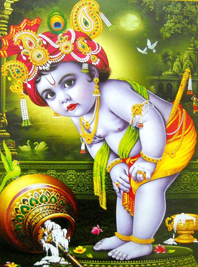 hindu poster krishna als kind 1 - 23 x 29 cm.jpg
