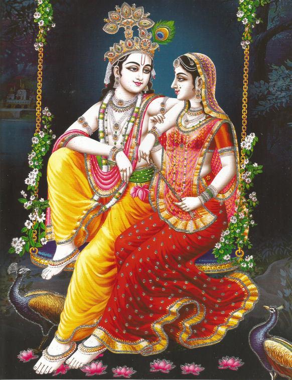 hindu poster krishna en radha 1 - 23 x 29 cm.jpg