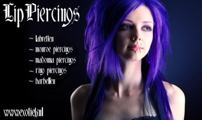 meisje paarse haren madonna monroe piercings labretten.jpg