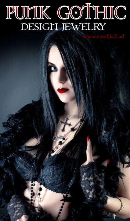 punk gothic meisje zwarte kant kettingen 12.jpg