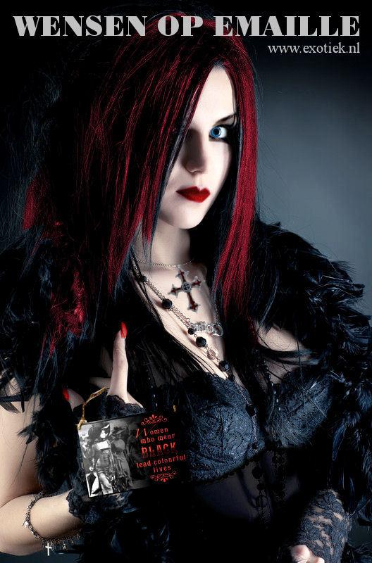 punk gothic meisje zwarte kant wandbord 4.jpg