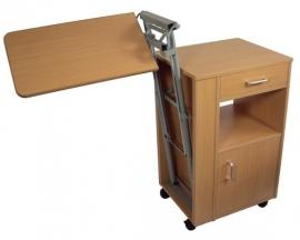 Ziekenhuis nachtkastje met in hoogte verstelbaar kantelbaar blad - MW20002