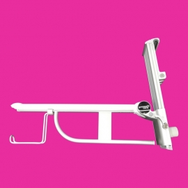 Tweedehands wegklapbare wandbeugel Pressalit Care met toiletrolhouder - 155191-D