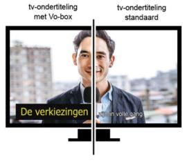Vergroting van de ondertiteling op uw TV beeldscherm, Vo-box