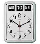 Kalenderklok Alzheimer, Dementie BQ-12A Wit, kalenderklok met tijd en datum - 619050