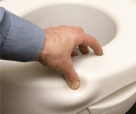 Zachte toiletverhoger van 11 cm
