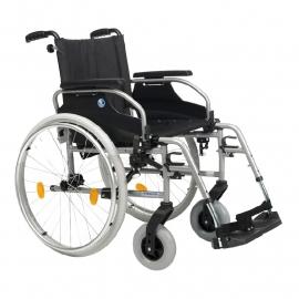 Top rolstoel!  Rolstoel met in hoogte verstelbare handvaten - D100 (geschikt voor rolstoelvervoer)