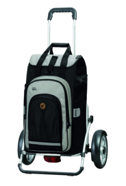 Boodschappenwagen met grote wielen en spatborden, Royal Shopper Plus Hydro 2.0 Zwart