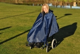Poncho voor de rolstoel zonder mouwen en ongevoerd, rolstoelkleding - PR34027