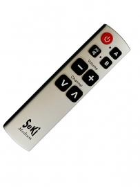 Eenvoudige afstandsbediening met 8 grote knoppen (voor 2 apparaten), SeKi Medium