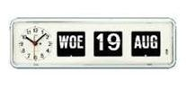 Kalenderklok Alzheimer, Dementie, BQ-38 Wit, kalenderklok die dag en datum weergeeft