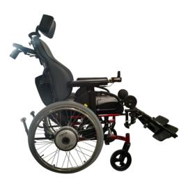Tweedehands elektrische kantelbare rolstoel Quickie SR 45 met duwondersteuning - 16806544
