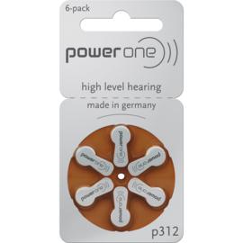 Hoorbatterijen Power One bruin P312 voor gehoorapparaat