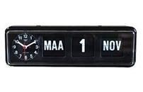 Kalenderklok tafelmodel BQ-38 Zwart, kalenderklok die dag en datum weergeeft