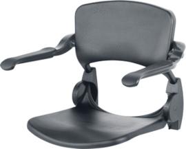 Linido grijze douchezitting voor aan de muur met opklapbare armleuningen - LI2203.2006-02 - 9837137