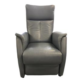Tweedehands leren lichtblauwe Prominent sta-op stoel - 16806543