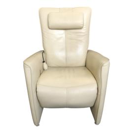 Tweedehands relaxstoel van Prominent in crème leder - 16811375