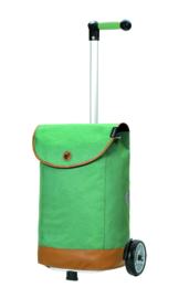 Lichte boodschappenwagen om te duwen of trekken, Unus Shopper Emil Groen