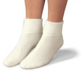 Wollen bedsokken wit (Peters Angora) 20242