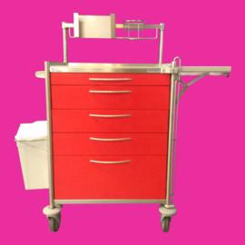 Tweedehands rvs medicijnwagen, medicijnkar Hammerlit PME 6411 - 156604-A