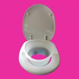 Tweedehands toiletverhoger met spatscherm van Pressalit - 155191-L