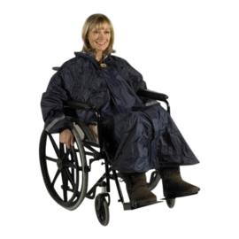 Gevoerde poncho voor de rolstoel of scootmobiel met mouwen, rolstoelkleding- PR34028-D
