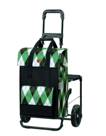Boodschappenwagen met zitje, Komfort Shopper Ine Groen