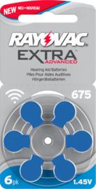 Hoorbatterijen Rayovac blauw R675 voor hoortoestellen, Rayovac Extra Advanced