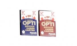 Tweedehands speelkaarten Opti met grote letters en cijfers - 1673321