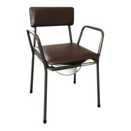 Tweedehands bruine toiletstoel met afdekbare zitting - 16807014