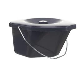 Emmer voor toiletstoel 587001167 - 9063 - Toiletemmer grijs inclusief deksel