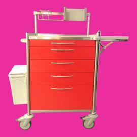Tweedehands rvs medicijnwagen,medicijnkar Hammerlit PME 6411 - 156604-B