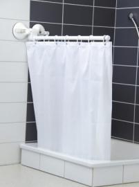 Douchesteun met zuignappen (met of zonder gordijn)