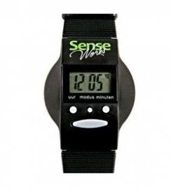 Nederlands sprekend horloge van Sense, zwart horloge voor slechtzienden en blinden