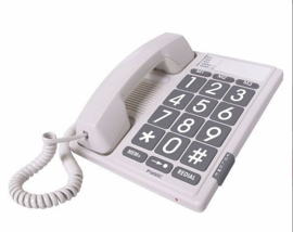 Telefoon met grote toetsen en grote cijfers, Fysic Big Button Telefoon - FX-3100