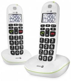 Telefoon voor slechtzienden - Doro loop telefoon (Dect) 110 duo met grote sprekende toetsen