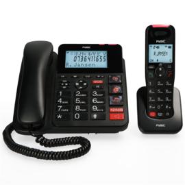 Combinatie van vaste en draadloze telefoon met grote toetsen, fototoetsen en antwoordapparaat - Fysic FX-8025