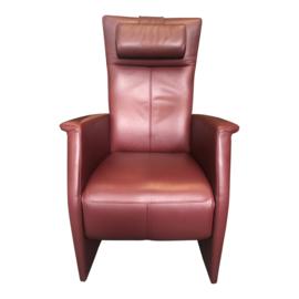 Tweedehands relaxstoel Prominent Toscana rood leder - 1669026