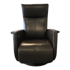 Tweedehands leren relaxstoel Prominent Toscana op draaischijf - 16810707