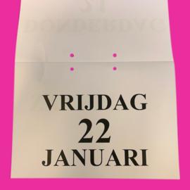 Grootletter dagkalender 2021 in A4-formaat, scheur dagkalender met grote letters en cijfers