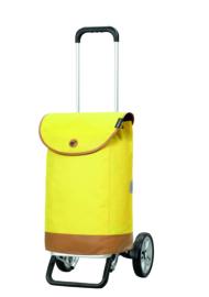 Lichte boodschappenwagen van aluminium, Alu Star Shopper Emil Geel