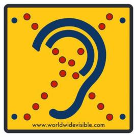 Bordje voor slechthorenden, Limited Hearing reflecterend bordje