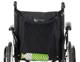 Rolstoelnetje, om boodschappen mee te nemen als u met de rolstoel op stap gaat