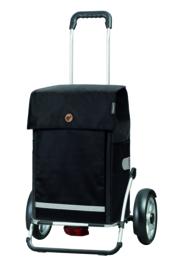 Boodschappenwagen met grote wielen en spatborden, Royal Shopper Plus Martje Zwart