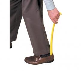 Lange schoenlepel plastic met haak - PR55028