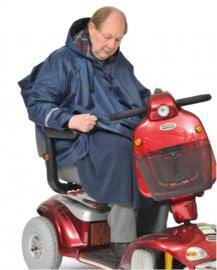 Scootmobielponcho Mobilty 3-in-1 met mouwen, jas voor op de scootmobiel