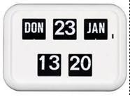 Nederlandse kalenderklok, Dag/Datum klok QD-35 Wit (618905)