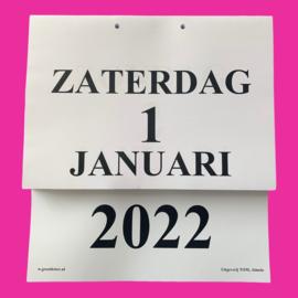 Grootletter dagkalender 2022 in A5-formaat, scheur dagkalender met grote letters en cijfers